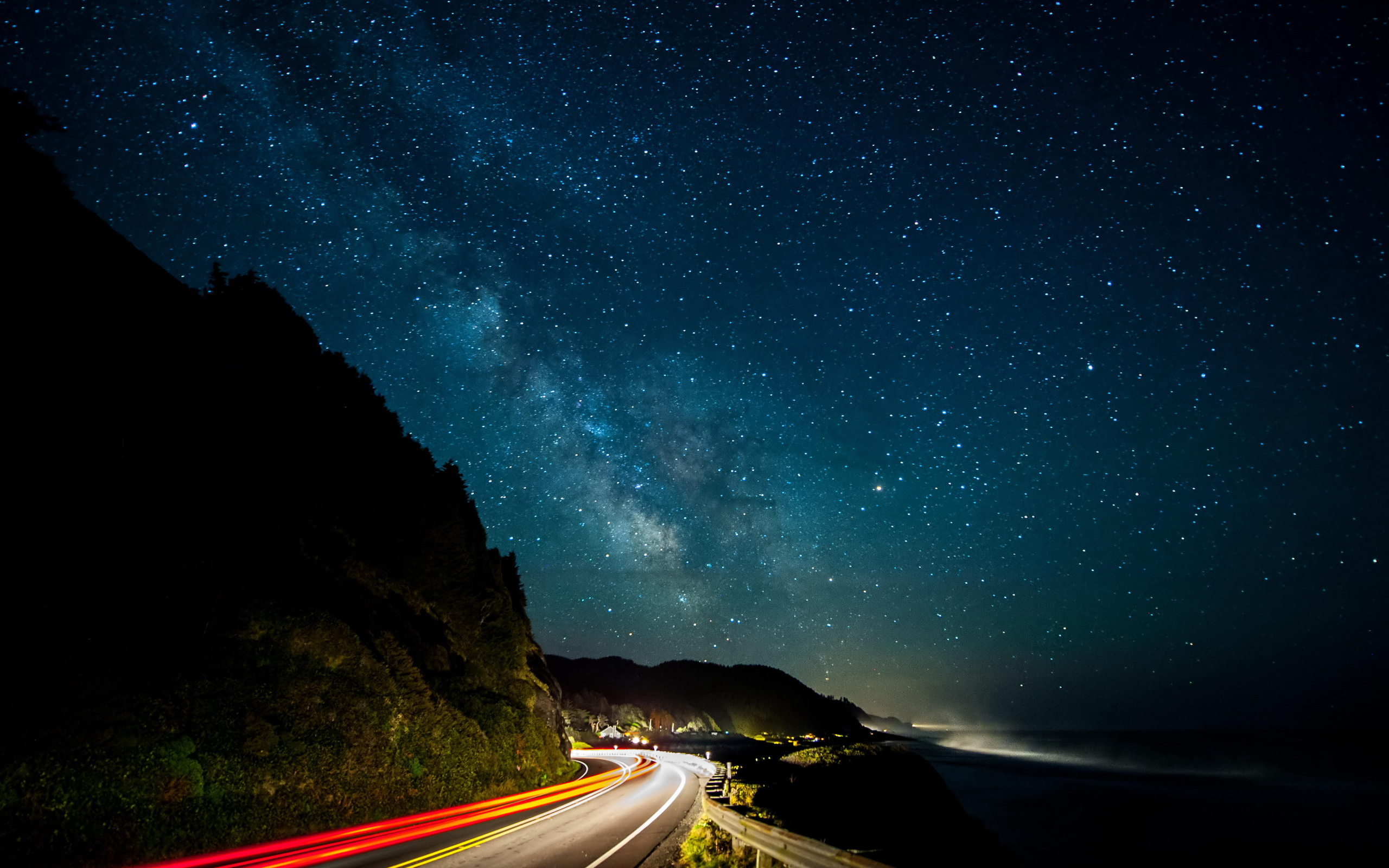 nature wallpapers night road - photo #21